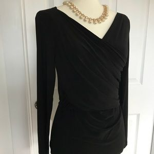 NWT DKNY Wrap Long Sleeved Top - Size S